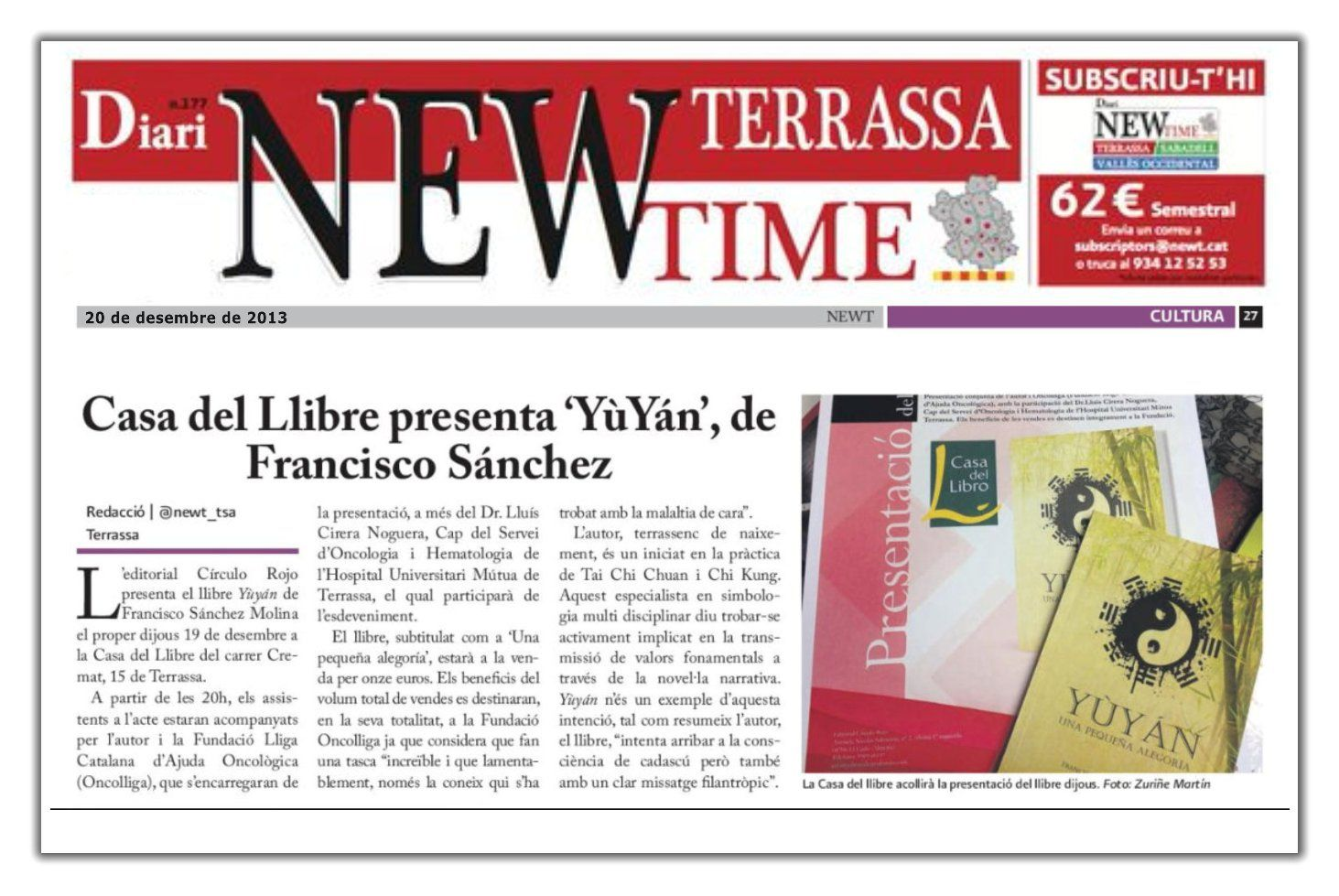 Yùyán | Prensa | New Time Terrassa