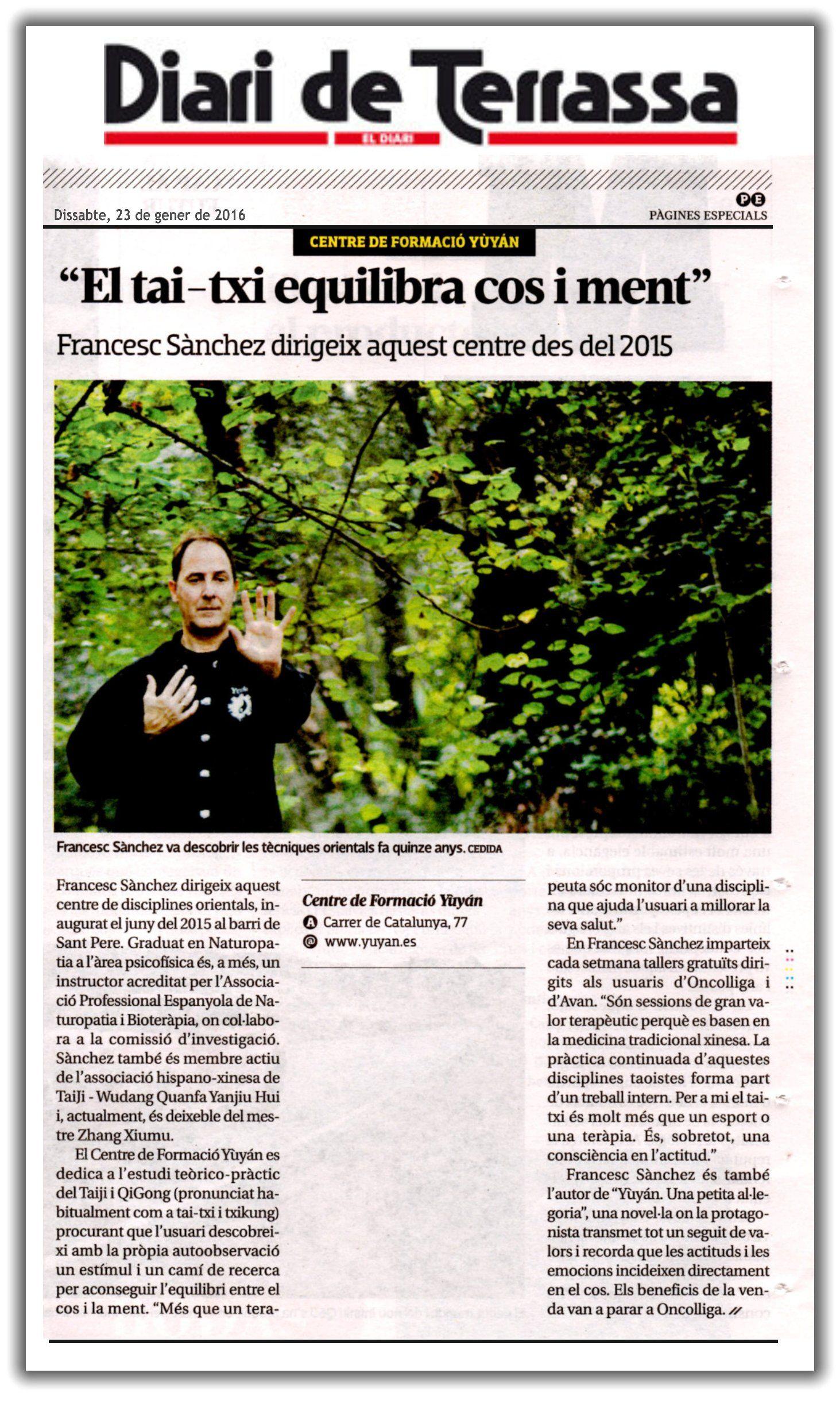 Yùyán   Prensa   Diari de Terrassa