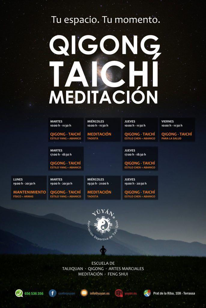 Horarios 2018 Yùyán - Terrassa - QiGong - TaiChí - Meditación - Feng Shui